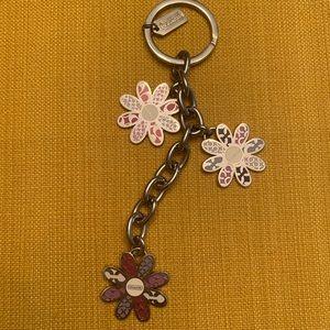 Coach New York Daisy Monogrammed Keychain